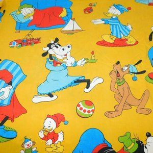 VTG Disney Twin Flat Sheet with Clarabelle Cow